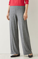 J. Jill Wearever Smooth-Fit Marled Full-Leg Pants