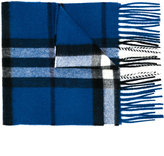 Burberry housecheck fringed knitted scarf