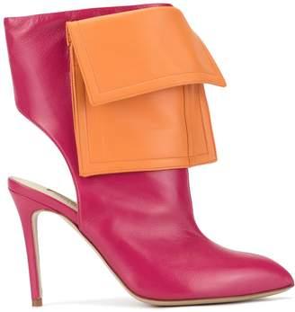 Natasha Zinko two tone cut-out ankle boots