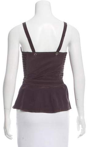 Vena Cava Sleeveless Silk-Blend Top