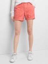 Gap Embroidery girlfriend chino shorts