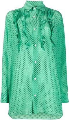 Plan C Oversized Polka Dot Shirt