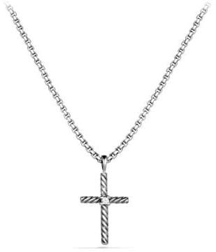 David Yurman Cable Classics Cross Necklace With Diamond