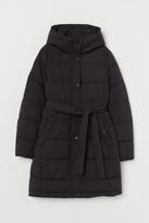 H&M MAMA Padded Hooded Jacket - Black