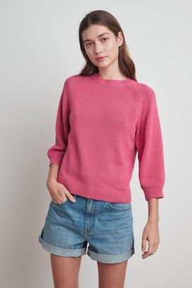 Velvet by Graham & Spencer Yara Cotton 3/4 Sleeve Sweater