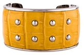 Tod's Wide Studded Alligator Cuff