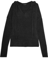 ATM Anthony Thomas Melillo Terry Hooded Top - Black