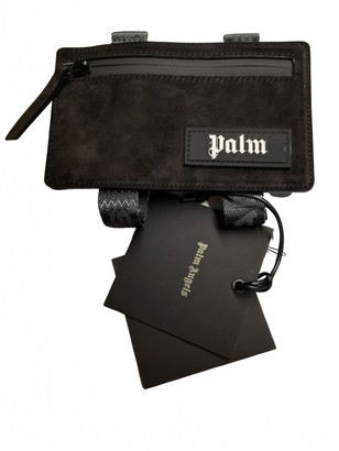 Palm Angels Black Suede Clutch bags