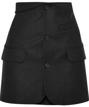 Helmut Lang Button-detailed Pique Mini Skirt