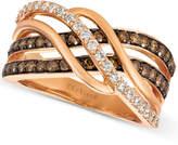 LeVian Le Vian Chocolatier® Diamond Twist Ring (1 ct. t.w.) in 14k Rose Gold