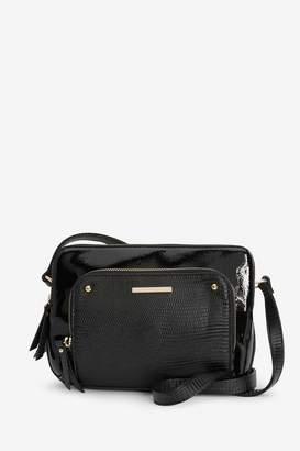 Next Womens Black Multi Compartment Across Body Bag - Black