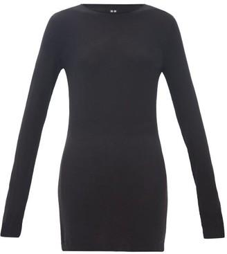 Rick Owens Longline Wool Sweater - Black