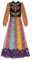 Gucci Lurex floral jacquard gown with embroideries