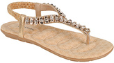 Gold Beaded Calista T-Strap Sandal