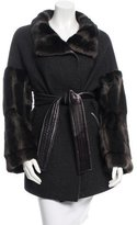 Giuliana Teso Fur-Trimmed Wool Coat