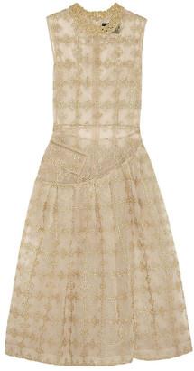 Simone Rocha Gold Lace Dresses