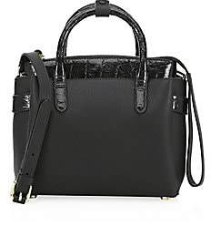 Nancy Gonzalez Women's Mini Cristie Crocodile-Trimmed Leather Satchel