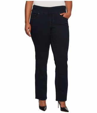 Jag Jeans Women's Plus-Size Peri Pull-On Straight Leg After Midnight