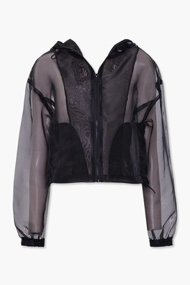 Forever 21 Organza Zip-Up Jacket