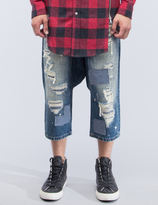 Mostly Heard Rarely Seen Distressed Enzo Drop-crotch Jeans