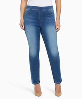 Gloria Vanderbilt Medium Blue Stonewashed Skinny Jeans - Plus