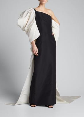 Carolina Herrera Dramatic Bow Column Gown