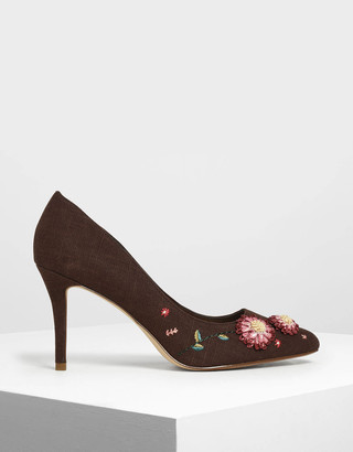Charles & Keith Floral Pumps