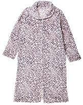 Dream Sleepers Women's Zip-Front Microfibre Print Robe