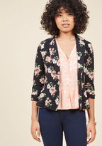 ModCloth Business is Blooming Floral Blazer in 1X