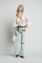 Free People Womens DESTROYED 5PKT FLARE