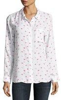 Rails Rosci Kiss Me Button-Down Shirt, Pink/White