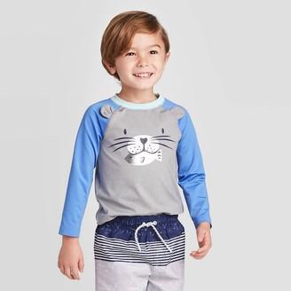 Cat & Jack Toddler Boys' Sea Lion Long Sleeve Rash Guard - Cat & JackTM