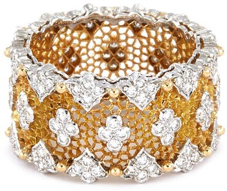 Buccellati 'Tulle' diamond white and yellow gold ring