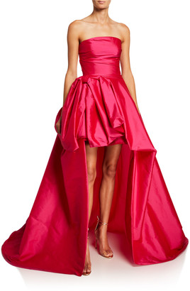 Monique Lhuillier Taffeta Strapless Ball Gown