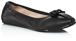 Salvatore Ferragamo Women's Joy Almond Toe Nappa Leather Ballet Flats