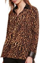 Lauren Ralph Lauren Ocelot Print Long Sleeve Shirt