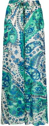 Twin-Set Floral-Print Palazzo Trousers