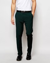 Asos Slim Suit Trousers With Stretch In Green