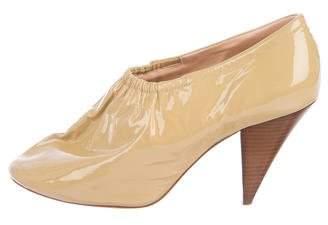 Celine Patent Leather Round-Toe Booties