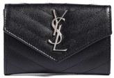 Saint Laurent Women's 'Small Monogram' Leather Envelope Clutch - Black