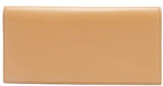 Jil Sander Logo-debossed Leather Continental Wallet - Womens - Beige