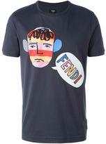 Fendi illustration print T-shirt - men - Cotton - 46