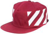 Off-White Red diagonals cap - men - Cotton - One Size