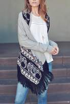 Double Zero Fringe Open Cardigan