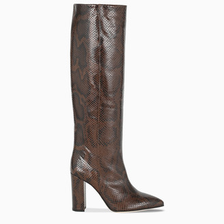Paris Texas Brown snake print boots