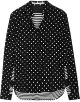 Stella McCartney Printed Silk Crepe De Chine Shirt - Black