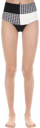 Paper London High Waist Patchwork Bikini Bottoms