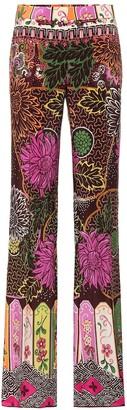 Valentino Printed silk-crepe de chine pants