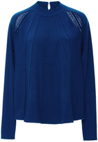 J.W.Anderson Pleat Front Merino Wool Sweater with Cutouts