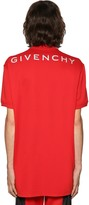 Givenchy OVERSIZE REFLECTIVE LOGO COTTON POLO